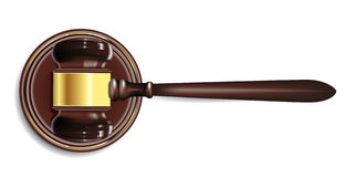 Gavel. Illustration of gavel on white Royalty Free Stock Photo