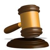 Gavel. Illustration, wooden gavel to judges on white background Royalty Free Stock Image