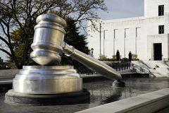 Gavel!. Close-up view of the giant gavel outside the Hall of Justice in Columbus, OH Stock Photography