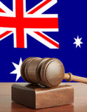 Gavel. And Flag of Australia Royalty Free Stock Images