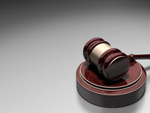 Gavel. 3d render Gavel (gradient background over Royalty Free Stock Photos