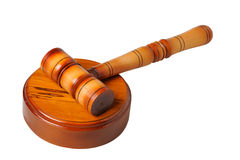 Gavel. On a white background Royalty Free Stock Photo