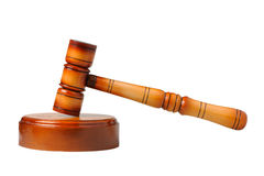 Gavel. On a white background Royalty Free Stock Image