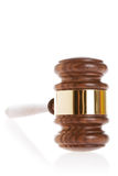 Gavel. On white background with reflection Royalty Free Stock Photography