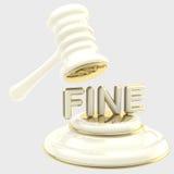 Ποινική ρήτρα: gavel σπάζοντας λέξη Στοκ εικόνα με δικαίωμα ελεύθερης χρήσης