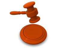 Gavel. 3d Stock Images