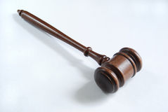 Gavel. On a neutral background Stock Images