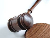 Gavel. On a neutral background Royalty Free Stock Photo