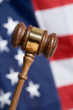 Gavel. With American Flag in background Stock Images