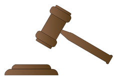 Gavel. Hammer of judge or auctioneer - vector Royalty Free Stock Photos