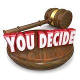 Αποφασίζετε την ξύλινη Gavel επιλογή επιλογής απόφασης κρίσης Στοκ φωτογραφία με δικαίωμα ελεύθερης χρήσης