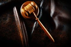 Gavel from above Royalty Free Stock Photo