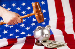 Gavel In Action Stock Images