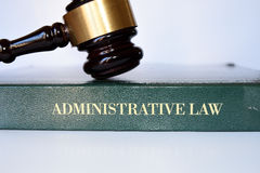 Gavel of administrative law. Body of law that governs the activities of administrative agencies of government Royalty Free Stock Photos