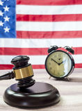Gavel and Alarm Clock Royalty Free Stock Image
