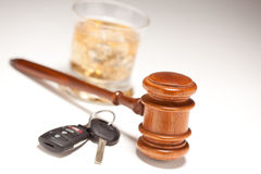 Free Gavel, Alcoholic Drink & Car Keys Royalty Free Stock Images - 12796679
