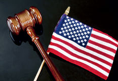 Gavel and American Justice. Stock Photo