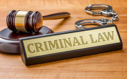 Free Gavel And A Name Plate With The Engraving Criminal Law Royalty Free Stock Photos - 63046488