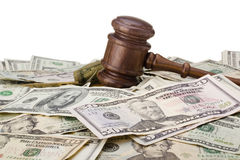 Gavel And Money Stock Photo