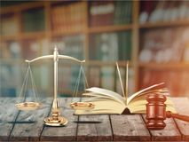 Gavel. Arbitration background barrister book business claim Stock Photography