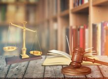Gavel. Arbitration background barrister book business claim Royalty Free Stock Photos