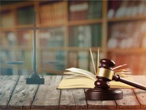Gavel. Arbitration background barrister book business claim Royalty Free Stock Images