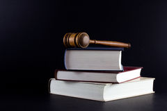Gavel atop Legal Texts Royalty Free Stock Photos