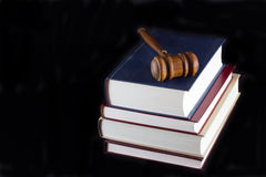 Gavel atop Legal Texts Royalty Free Stock Images