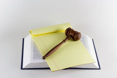Gavel atop Legal Texts Royalty Free Stock Photo
