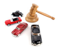 Gavel auction and cars Royalty Free Stock Photos