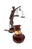 Gavel. Auction hammer in court. Stock Photo