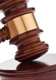 Gavel. Auction hammer in court. Stock Image