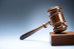 Gavel. Auction lawyer icon trial law internet Stock Photos