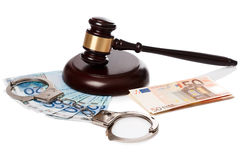 Gavel and banknotes Royalty Free Stock Image