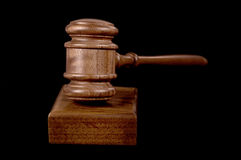 Gavel on black Royalty Free Stock Photography