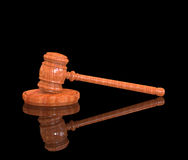 Gavel black background stock photos