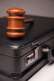 Gavel and Black Briefcase Royalty Free Stock Image