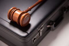 Gavel and Black Briefcase Stock Photos
