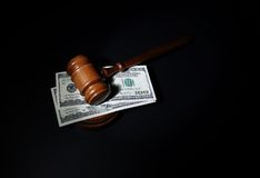 Gavel on black Stock Images