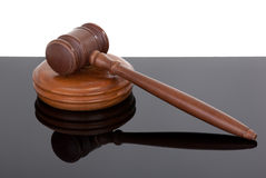 Gavel on black and white Royalty Free Stock Photos