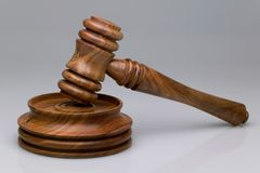 Gavel and block Royalty Free Stock Image