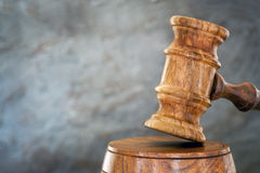 Gavel with Blurred Background Stock Photo
