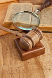 Gavel and book Stock Photos