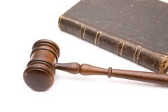 Gavel and book Stock Photo