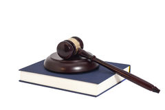 Gavel and book Royalty Free Stock Images