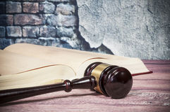Gavel and book Royalty Free Stock Image