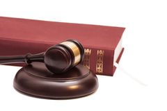Gavel and book Stock Photography