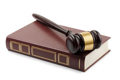 Gavel and book Stock Images