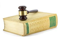 Gavel and book Royalty Free Stock Photography