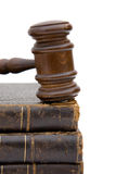 Gavel and books Royalty Free Stock Photography